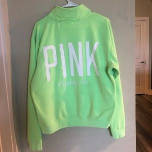 ✨PINK NEON GREEN QUARTER ZIP✨